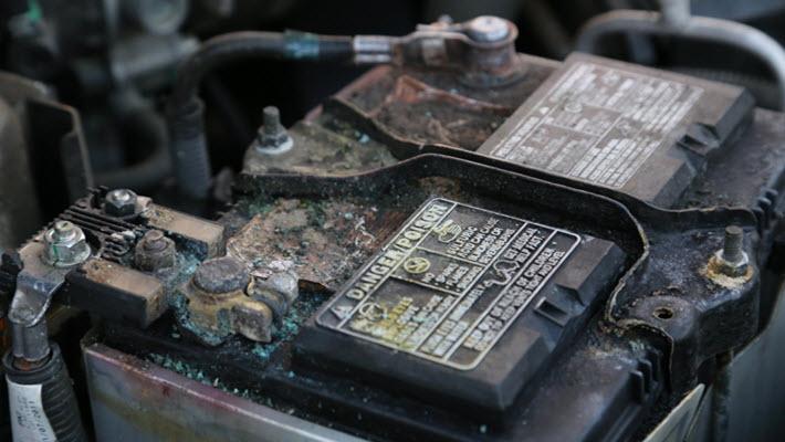 Corroded Lexus Battery