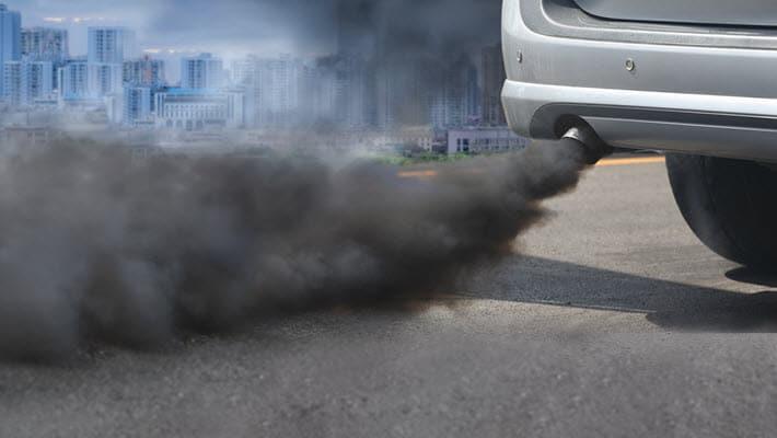 Mercedes Black Exhaust Smoke